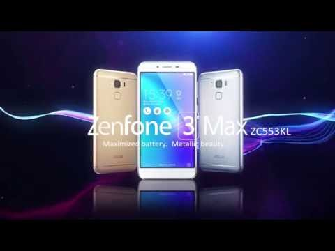 "Maximized battery. Metallic beauty - ZenFone 3 Max 5.5"" (ZC553KL) 
