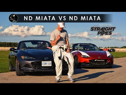 2019 Mazda Miata vs MX-5 Cup Car | TheStraightPipes Included