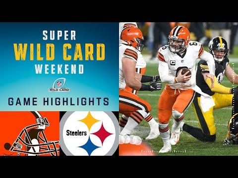Browns vs. Steelers Super Wild Card Weekend Highlights | NFL 2020 Playoffs