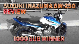7. Suzuki Inazuma GW-250 Review - 1000 Subscriber Giveaway Winner Announced!