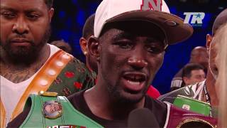 terence crawford  post fight interview