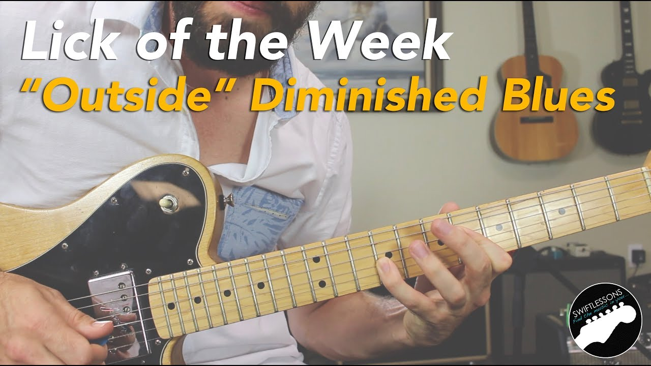 """Playing Outside"" Diminished Blues Guitar Lick Lesson 