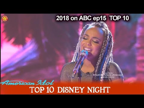 "Jurnee sings ""How Far I'll Go"" from Moana  Disney Night  American Idol 2018 Top 10"