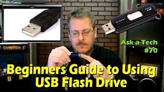 Video Beginners Guide to Using a USB Flash Drive - Ask a Tech #70 MP3, 3GP, MP4, WEBM, AVI, FLV Mei 2019