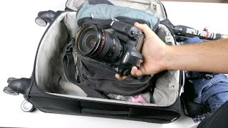 I'm packing my bags for another trip and thought I'd share what I packed in them this time. It's a rare non-international photo trip for...and I'm only going overnight, so it's a bit different ball game than I'm used to. Here's a quick look at what I decided to fit into my carry-on.