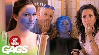 JFL Hidden Camera Pranks&Gags: Perfect Smurf Tan