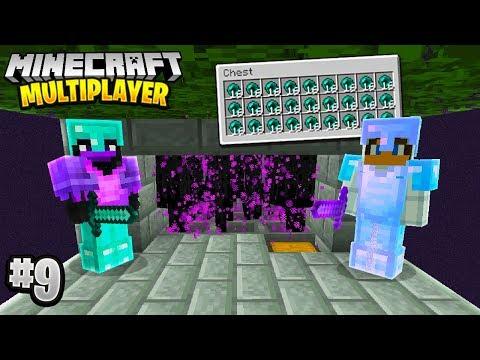 INSANE ENDERMAN FARM in Minecraft Multiplayer Survival! (Episode 9)