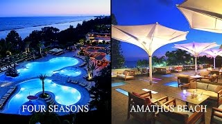 In this next installation I showcase Four Seasons Hotel and Amathus Beach Hotel in Limassol, back to back to determine which hotel is the best in Limassol, Cyprus.Myself and Tolz decided that we would embark on a journey of holy matrimony in Cyprus and headed out there to view the best venues the island had to offer. We narrowed it down to two hotels and three villas. In this episode we take a look at the hotels and decide which one is the most suitable.Enjoy :)Disclaimer: Opinions expressed here are entirely my own and do not represent the views of other diners, owners or staff.TWITTERhttps://twitter.com/rileyserolaINSTAGRAMhttps://www.instagram.com/rileyserola/FACEBOOKhttps://www.facebook.com/profile.php?id=100010998639390Click here to find out more about Four Seasons Limassolhttps://www.fourseasons.com.cy/Click here to find out more about Amathus Beach Hotelhttps://www.amathuslimassol.com/------------------------------------------------MusicClap Along by Audionautix is licensed under a Creative Commons Attribution licence (https://creativecommons.org/licenses/by/4.0/)Artist: http://audionautix.com/