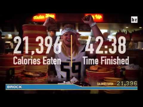 Watch an NFL Linebacker Eat 21,396 Calories in 43 Minutes