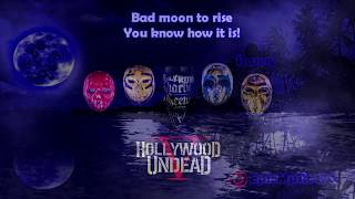Video Hollywood Undead - Bad Moon [Lyrics   Video] MP3, 3GP, MP4, WEBM, AVI, FLV Agustus 2018