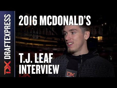 T.J. Leaf - 2016 McDonald's All American Interview