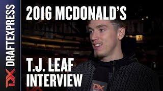 T.J. Leaf - 2016 McDonald's All American Interview