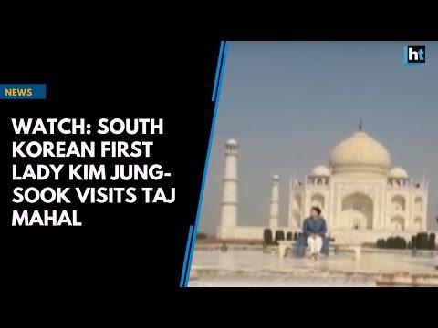 Watch: South Korean First Lady Kim Jung-sook visits Taj Mahal