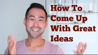 In this video, i tell you how to come up with creative, fresh and brilliant ideas that will make you look good in front of your boss, will separate you from your colleagues, and that will set you up for long term success. I share one simple and practical tip you can you use today to help you come up with great ideas!I mentor you towards a rewarding career and help you create a life you're proud of. My Website: http://www.101mentoring.com/My Products and Services:http://www.101mentoring.com/productsandservicesGrab a free copy of my ebook, The Unfair Advantage:http://www.101mentoring.com/ebook/unfairadvantageAsk me a question and I'll answer it in a future video:http://www.101mentoring.com/askyourquestionPicture this, you're sitting in a meeting with your fellow colleagues and your boss points to you and asks you what he should do to boost sales by 50%?  What would you do? What would say? And more importantly, what's the best response that could really wow your boss and separate yourself from your colleagues. Or maybe you're hunting for a new job or thinking about switching into a new career path. You've invested in a career advisor, really took the time to sharpen your resume and cover letter, you're getting interviews, but for whatever reason, you're not getting the job offers. When you're surrounded by other like-minded smart and driven people, being smart and driven isn't what's going to take you to the next level.Instead, what would really catapult you above the rest of the pack is a creative element - something that the others don't have - and that is to come up with great ideas!So how do you come up with great ideas? How can you become that groundbreaking thinker? In today's video, i talk about:- The WRONG way to come up with great ideas- The primary method to extract brilliant ideas- One tip to keep a bank of creative idea catalysts that you can use in the future, when you need it