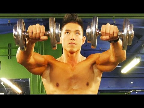 Shoulder Exercise - 1 trick to build muscle: http://go2.sixpackshortcuts.com/aff_c?offer_id=6&aff_id=2634&aff_sub=15MinHomeShoulderWorkout&aff_sub2=DESC&source=youtube What's up...