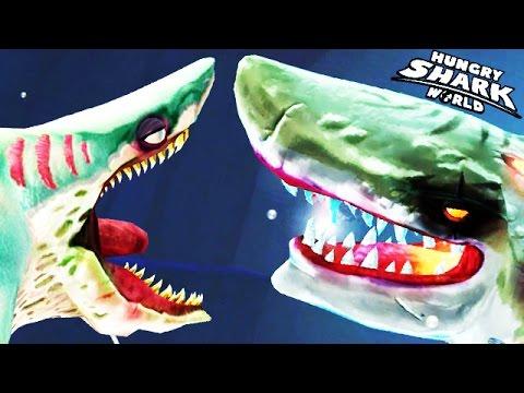 Hungry Shark World - Zombie Shark vs Atomic Shark