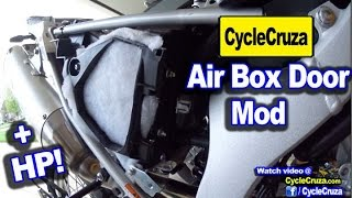 8. WR250R Ultimate Air Box DOOR Mod - More Horsepower!