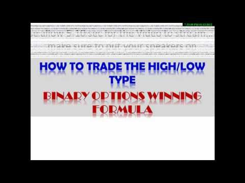 "High – Low option using ""Binary Options Winning Formula"""