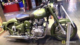 4. 2015 Royal Enfield Classic 500 Battle Green - Walkaround - 2014 EICMA Milan Motorcycle Exhibition