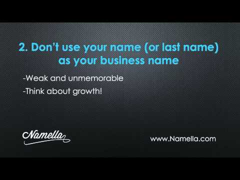 Choosing a Business Name- Must Know Tips for Choosing a Company Name