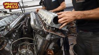 v55 tank engine rebuild & first start attempt!