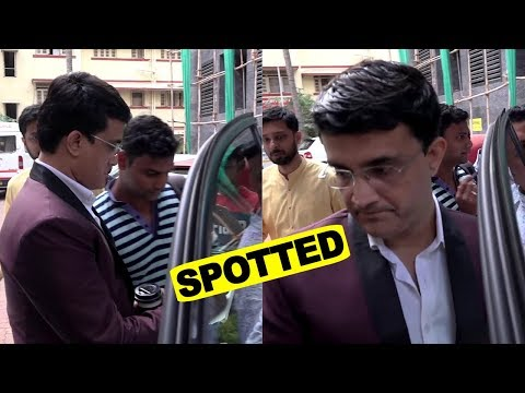 Sourav Ganguly Spotted At Title Waves , Bandra West
