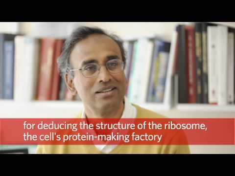 nobel laureate - Venki Ramakrishnan was awarded the 2009 Nobel Prize in Chemistry for 'studies of the structure and function of the ribosome', the cell's protein-making facto...