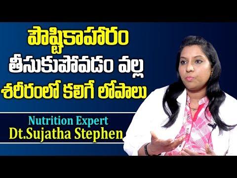 పౌష్ఠికాహారం తీసుకుపోవడం వల్ల శరీరంలో కలిగేలోపాలుDt.Sujatha Stephen Nutrition ExpertNutrition Diet