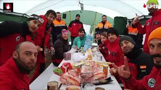 Prácticas de rescate en terremoto de Bomberos Girecan