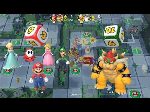 Super Mario Party Partner Party #102 Domino Ruins Treasure Hunt Mario & Bowser vs Wario & Monty Mole