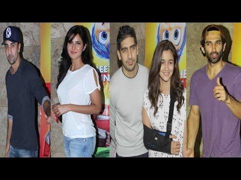 Ranbir Kapoor , Katrina Kaif , Arjun Kapoor & Others At Screening Of Film Inside Out