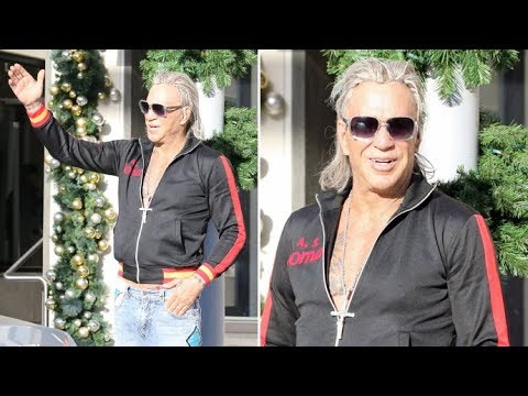 Mickey Rourke Goes 'Trick-Or-Treating' In December In Beverly Hills