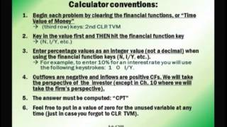 Financial Management: Lecture 2, Chapter 5: Part 1 - Time Value Of Money