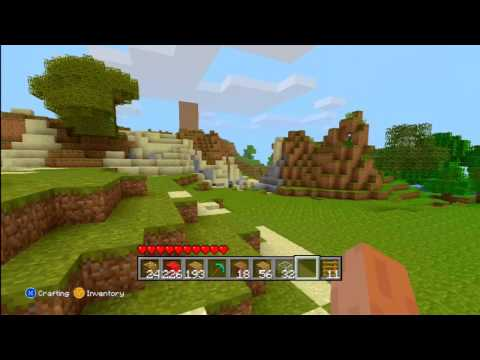 MineCraft XBOX 360 Version Playing with cannons + Creation and Destruction of MARIO