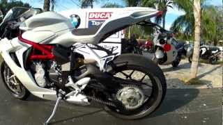 5. 2013 MV Agusta F3 675 in White at Euro Cycles of Tampa Bay