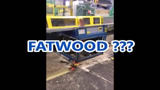 """I was removing a tilting arbor on one of the small saws at work and needed a few wood blocks to add to a jack when I came across an unusually heavy block of 2"""" x 4""""  Could this be kiln dried fatwood ?  Watch and let's see."""