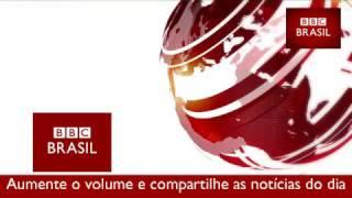 Assista ao boletim de notícias internacionais da BBC Brasil Dois Minutos pelo Mundo, transmitido no Brasil pela rádio CBN às 7:30