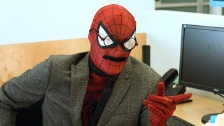A day in the less than amazing life of John SpidermanWatch our Spider-Man Trilogy Recap Rap! ► http://bit.ly/2uN7iuOSUBSCRIBE! ► http://bit.ly/Sub2TWZJOHN SPIDERMAN (Parody) - The Warp ZoneBefore you see the new Spider-Man Homecoming movie, meet John Spiderman, your friendly neighborhood CPA. Forget high school, he's got audits and taxes to worry about! Watch a normal day in his life as co-workers harass and ridicule him for his uncanny resemblance to the famous superhero Spider-Man. But, he doesn't see it. To him, he's just an average guy trying to get by like everybody else... though if the real Spider-Man wore a mustache, a coat, and glasses, he'd pretty much look identical to John Spiderman...STARRINGRyan Tellez - John SpidermanJosh Mattingly - Captain AmericaJoshua Ovenshire - Thug #1Flora Gignac - Mugged Woman #1Rebecca Doyle - Mugged Woman #2David Odom - Derek (Office Bully) / Thug #2Michael Adams Davis - Bill (Coffee Question Guy)Ryan Turner - Phil (Interrupted Urine Guy)Nassim Nadery - Office Co-WorkerSusanne Morris - Office Co-WorkerChris Reese - Office Co-workerBrian Fisher - Office Co-workerDirected by Ryan TurnerCinematography by Michael SchmidtProduction Designer - Taylor FrostSound Mixer - Robben FendersonEdited by Jarrett Conaway, Michael Schroeder, & Michael DavisSound Editing - Ryan TellezColor and VFX - Brian FisherProduced by Brian Fisher and David Odom- The Warp Zone -Subscribe for more sketch comedy! http://youtube.com/TheWarpZoneLike us on Facebook! http://facebook.com/TheWarpZoneFollow us on Twitter! http://twitter.com/WarpZoneTweetsFollow us on Instagram! http://instagr.am/WarpZoneGrams