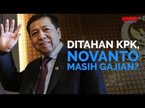 Ditahan KPK, Novanto Masih Gajian?