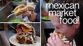 Eating Tortas at the Artisan Market in San Miguel de Allende, Mexico