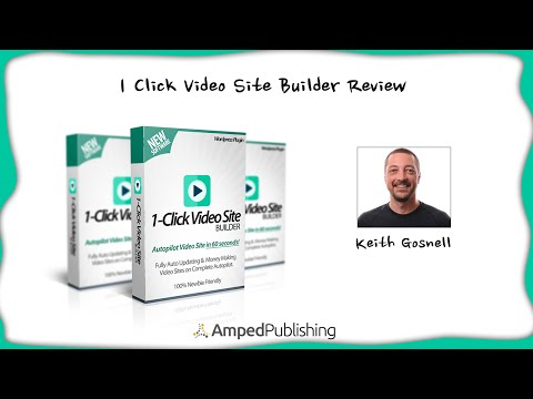 1 Click Video Site Builder Pro Plugin is Included inside this Blog