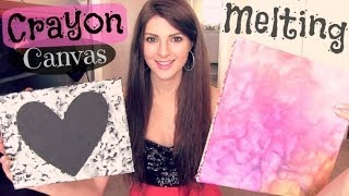 Crayon Melting Canvas Art - How To - YouTube