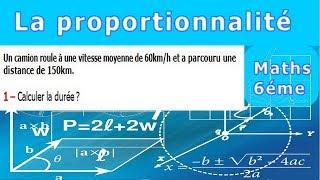 Maths 6ème - La proportionnalité la vitesse moyenne Exercice 3