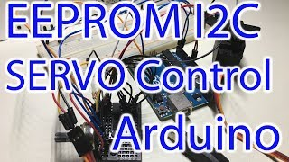In this episode we are looking at how to store Servo Position Readings into an external EEPROM IC (24LC256) through I2C Communication & playing them back repeatedly. We will take a step back on a previous video I did in which I implemented a similar functionality, but stored the positions on my Arduino. This prevented myself as well as the users to extend the program and use more servos or have the recording continue for a longer period of time. Contribute to the channel:https://www.patreon.com/EE_Enthusiast Relevant Materials:Previous tutorial on Servo & Memory storage: https://www.youtube.com/watch?v=IxmF206R6gk24LC256 EEPROM Datasheet: http://ww1.microchip.com/downloads/en/DeviceDoc/20001203U.pdfSoftware: https://github.com/VRomanov89/EEEnthusiast/tree/master/03.%20Arduino%20Tutorials/05.%20ServoMemoryTutorial/ServoMemory Hardware Used:Arduino Uno - Product Link: http://amzn.to/2qPA2VYBreadboard - Product Link: http://amzn.to/2qqpwmXJumper Cables - Product Link: http://amzn.to/2pIBcSVPower Supply - Product Link: http://amzn.to/2ryKIrc24LC256 EEPROM - Product Link: http://amzn.to/2rSzFcTServo Motor (MG995) - Product Link: http://amzn.to/2s2jgndVariable DC-DC Converter - Product Link: http://amzn.to/2rSwGkD Get in touch:Facebook: https://www.facebook.com/EEEnthusiastTwitter: https://twitter.com/EE_EnthusiastWebsite: http://eeenthusiast.comForum: http://forum.eeenthusiast.com/GitHub: https://github.com/VRomanov89Personal website: http://vladromanov.com Relevant Search Terms:arduino eeprom, arduino eeprom read and write, arduino eeprom tutorial, arduino eeprom example, arduino eeprom chip, arduino eeprom i2c, arduino servo motor control, arduino servo tutorial, arduino servo external power source, arduino servo potentiometer tutorial, arduino servo potentiometer code, arduino servo recorder, arduino servo motor control tutorial, arduino external power supply, arduino button control, EEEnthusiast, Vlad Romanov, Volodymyr Romanov