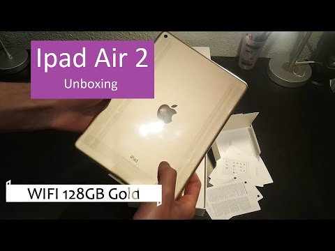 Ipad Air 2 WIFI 128GB Gold | Unboxing