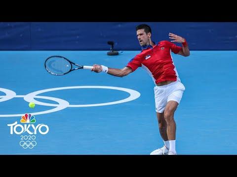 Novak Djokovic rolls in first round of men's tennis tournament | Tokyo Olympics | NBC Sports