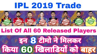 IPL 2019 - List Of 60 Players Released By All 8 Teams Before IPL Auction
