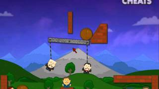 Walkthrough on how to beat level 28 of Vampire Physics Game at Addicting Games www.casualcheats.com