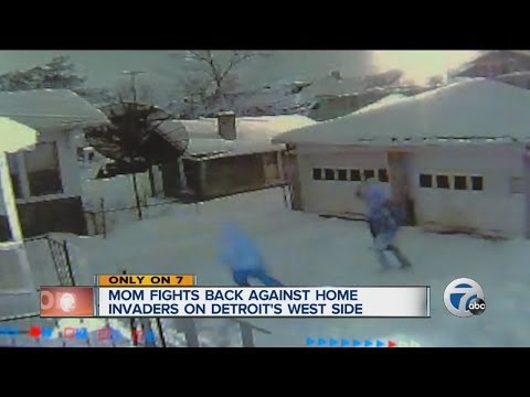 Mom fights back against home invaders on Detroit's west side