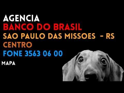 ✔ Agência BANCO DO BRASIL em SAO PAULO DAS MISSOES/RS CENTRO - Contato e endereço